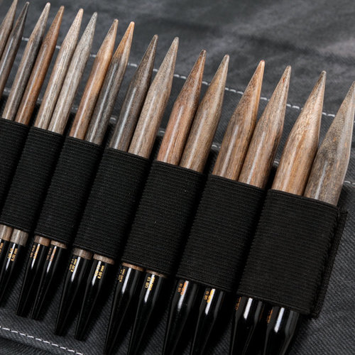 """View larger image of Driftwood 5"""" Interchangeable Circular Needle Set"""