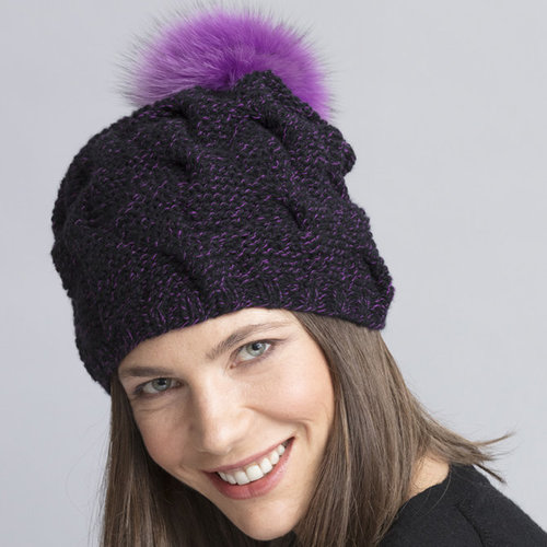 View larger image of Drew Cabled Hat & Cowl PDF